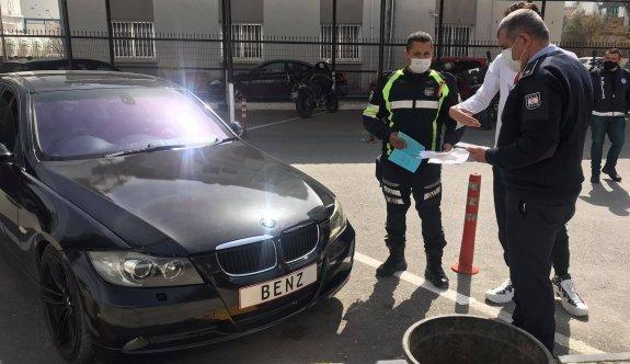 Lefkoşa polisi kanunsuz araç kullananları affetmiyor