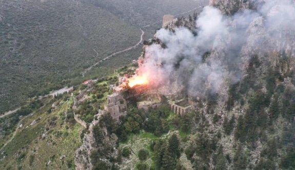 St. Hilarion Kalesi'ndeki yangın kontrol altına alındı