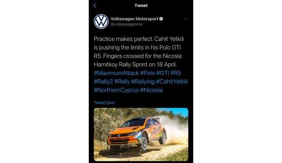 Volkswagen'den bir Yetkili paylaşımı daha