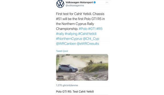 Yetkili'nin ilk testi,Volkswagen sayfasında