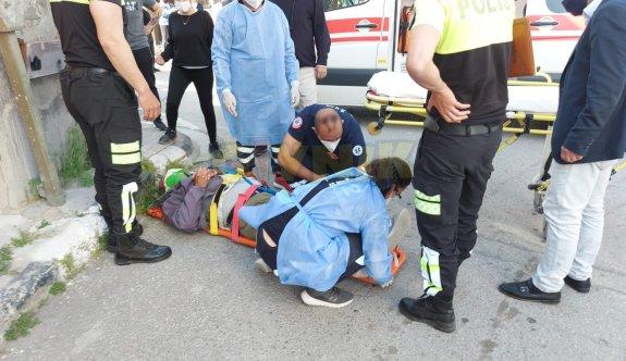 Bisiklet sürücüsü yaralandı