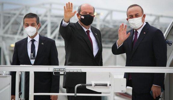 """Cumhurbaşkanı Ersin Tatar, """"Kıbrıs meselesinde yeni bir sayfa açtık"""" dedi."""