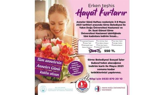Girne Belediyesi'nden Anneler Günü'nde kanser tarama indirimi