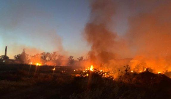 Haspolat'taki yangın kontrol altında