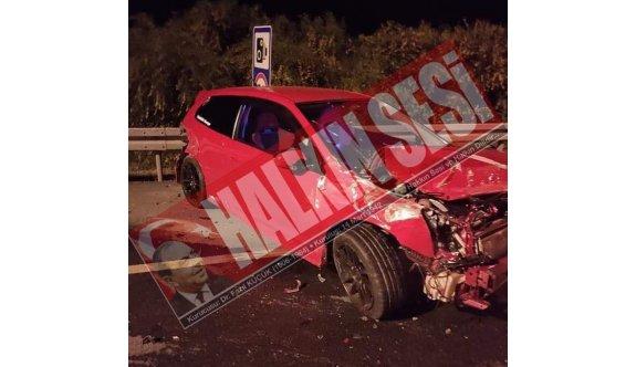 İçkili sürücü çelik bariyerlere vurarak durdu