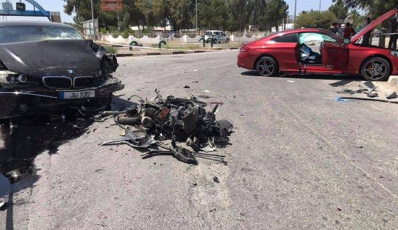 Lefkoşa'da büyük kaza: 1'i ağır 5 yaralı