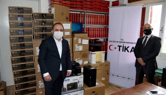 TİKA'dan TAK ajansına teknik ekipman desteği
