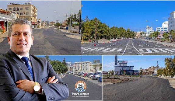 Gazimağusa Belediyesi 9 bin tonluk asfalt döküm çalışmalarını tamamladı