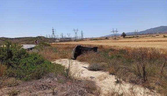 Sürücünün köprücük kemiği kırıldı