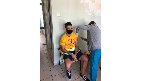 Yiğitcan, Biontech aşısı oldu