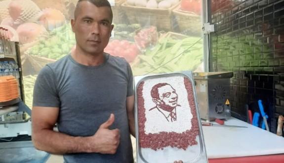 Etten, Liderimizin portresini yaptı