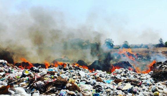 Geçitkale çöplüğü perişan ediyor