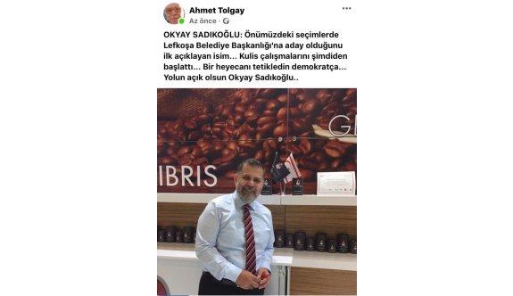 Okyay Sadıkoğlu, Belediye başkanlığına aday