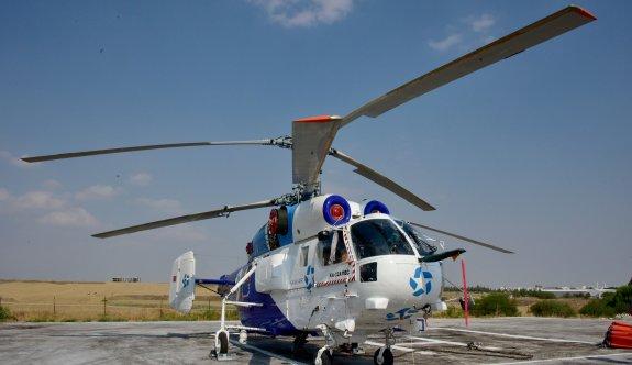 Türkiye'den görevlendirilen yangın helikopteri KKTC'de konuşlandırıldı