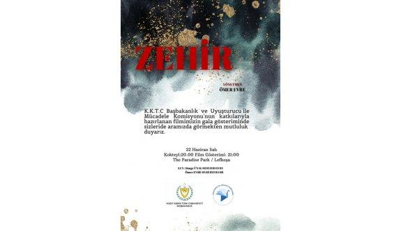 """""""Zehir"""" Filminin Galası yarın akşam yapılıyor"""