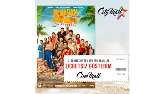 Cinemall 'da bugün film keyfiniz ücretsiz!