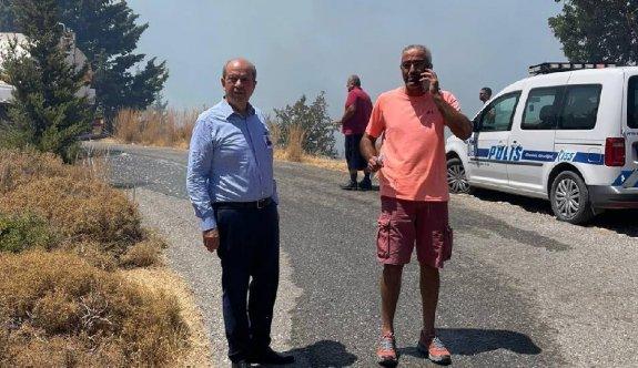 Cumhurbaşkanı Tatar da yangın bölgesindeydi