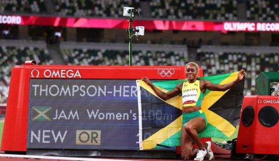 Elaine Thompson rekorla şampiyon