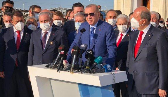 """Erdoğan """"Azerbaycan'ın KKTC'yi tanıması konusunda tereddüt edecek hiçbir şey yok"""""""