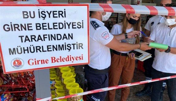 Girne'de iki işletme mühürlendi