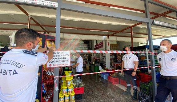 Girne'de iki iş yeri mühürlendi