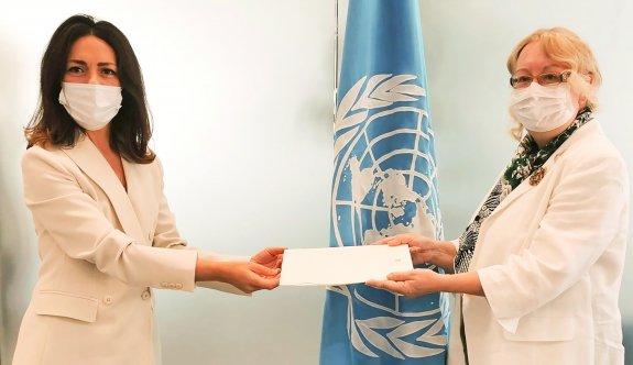Güney Kıbrıs'ın BM Daimi Temsilcisi olarak ilk kez bir kadın