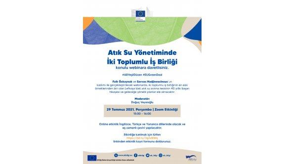 Lefkoşa'nın atık su arıtma tesisi onlıne etkinlikte konuşulacak