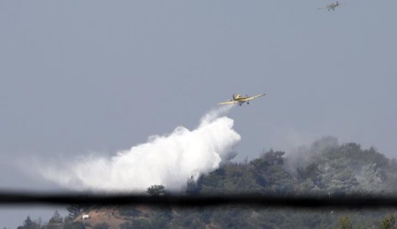 Limasol'un Pahna bölgesinde çıkan yangın nedeniyle evler boşaltılıyor