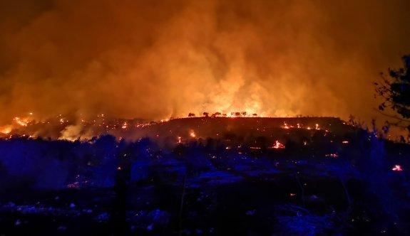 Platanistia köyünde korkutan yangın