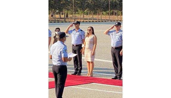 Polis teşkilatında terfi eden 151 polise törenle rütbeleri takıldı