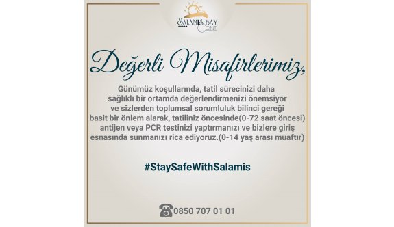 Salamis Hotel'den duyarlı hareket