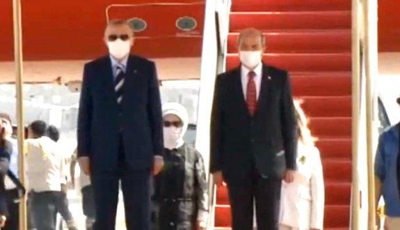 Türkiye Cumhurbaşkanı Erdoğan KKTC'de