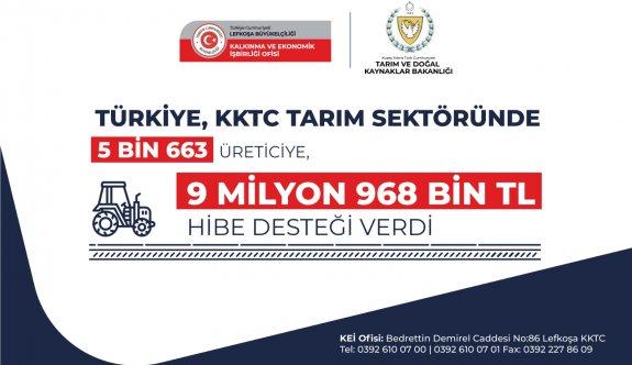 Türkiye, KKTC tarım sektöründe 5 bin 663 üreticiye hibe desteği