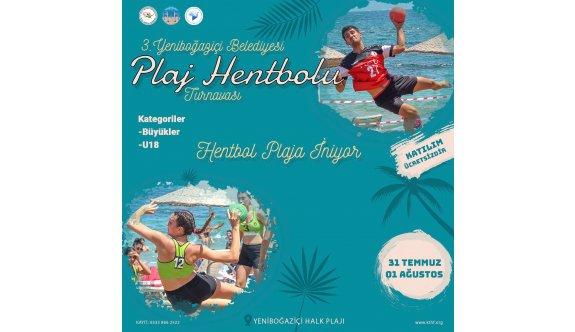 Yeniboğaziçi plajında hentbol heyecanı yaşanacak