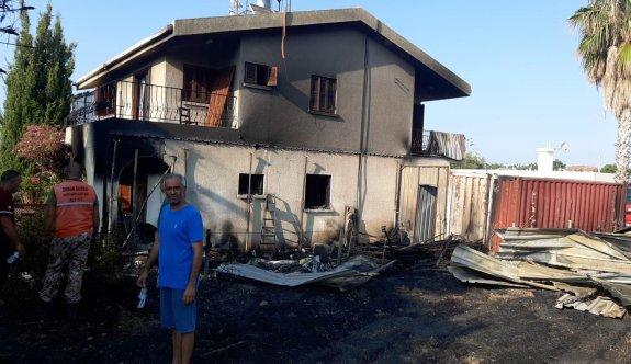 Yeşiltepe'de korkutan yangın