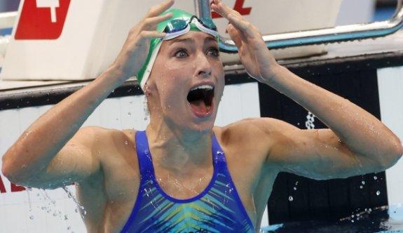 Yüzmede bir dünya, iki olimpiyat rekoru kırıldı