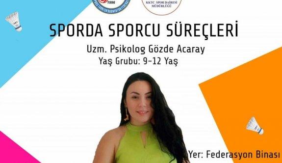 Badminton sporcularına, psikolog destekli seminer
