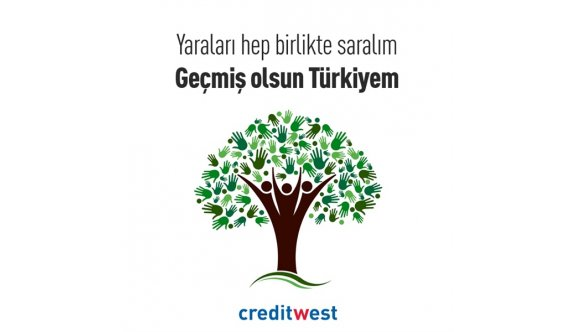 Credıtwest Bank'tan Türkiye'deki yangın afeti için 200 bin TL bağış