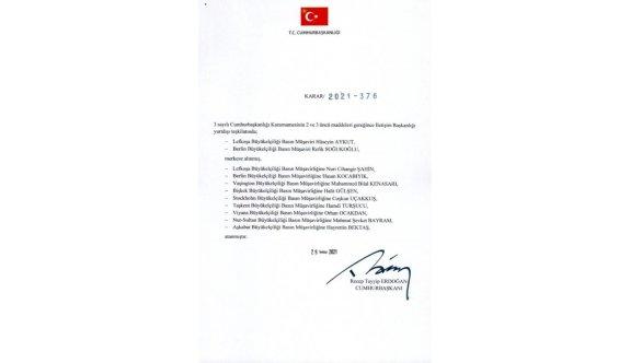 Elçilikte görev değişimi: Aykut'un yerine Şahin