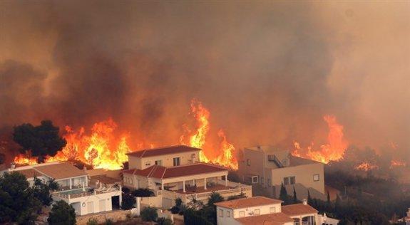 İspanya'daki orman yangınları nedeniyle 800 kişi tahliye edildi