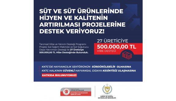 KEİ Ofisi'nden 27 üreticiye 500.000,00 TL hibe desteği