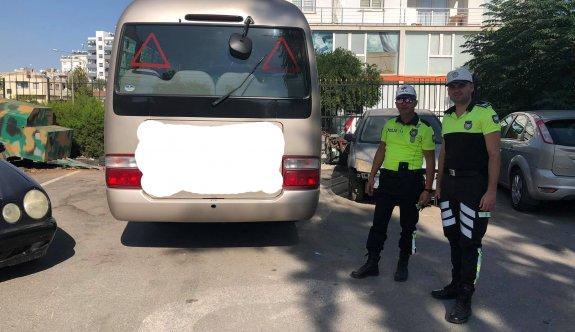 Kurallara uymayan otobüs şoförüne polis acımadı