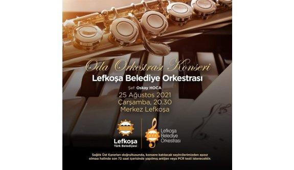 Lefkoşa Belediye Orkestrası, Merkez Lefkoşa'da konser verecek