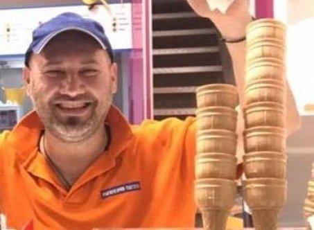 Oroklini'nin tanınmış dondurmacısı koronaya yenildi