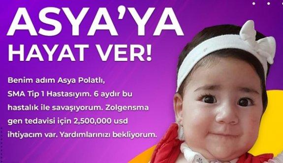 SMA hastası Asya bebek için kampanya sürüyor
