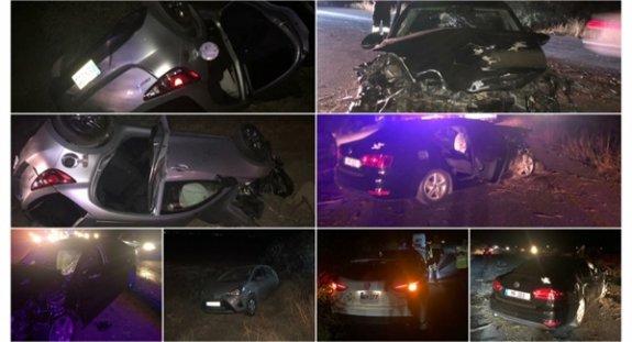 Süratli sürücü zincirleme kazaya neden oldu