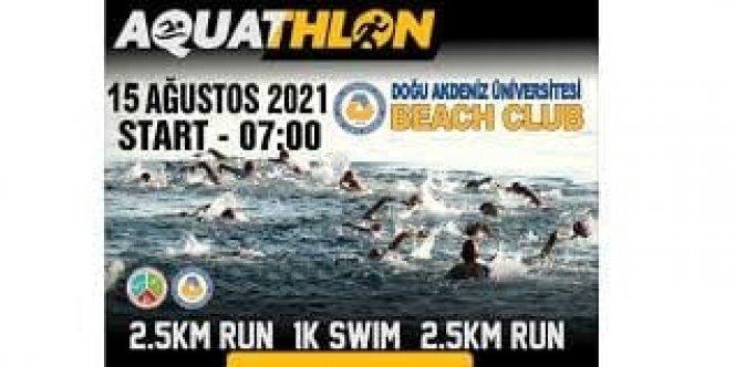Triatletler DAÜ Aquatlonu'nda yarışacak