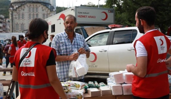 Türk Kızılayı 66 binden fazla kişiye insani yardım ulaştırdı