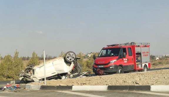 UKÜ-Taşkent arası yeni yolda büyük kaza