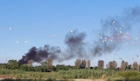 Haspolat'ta yine hurda yangını